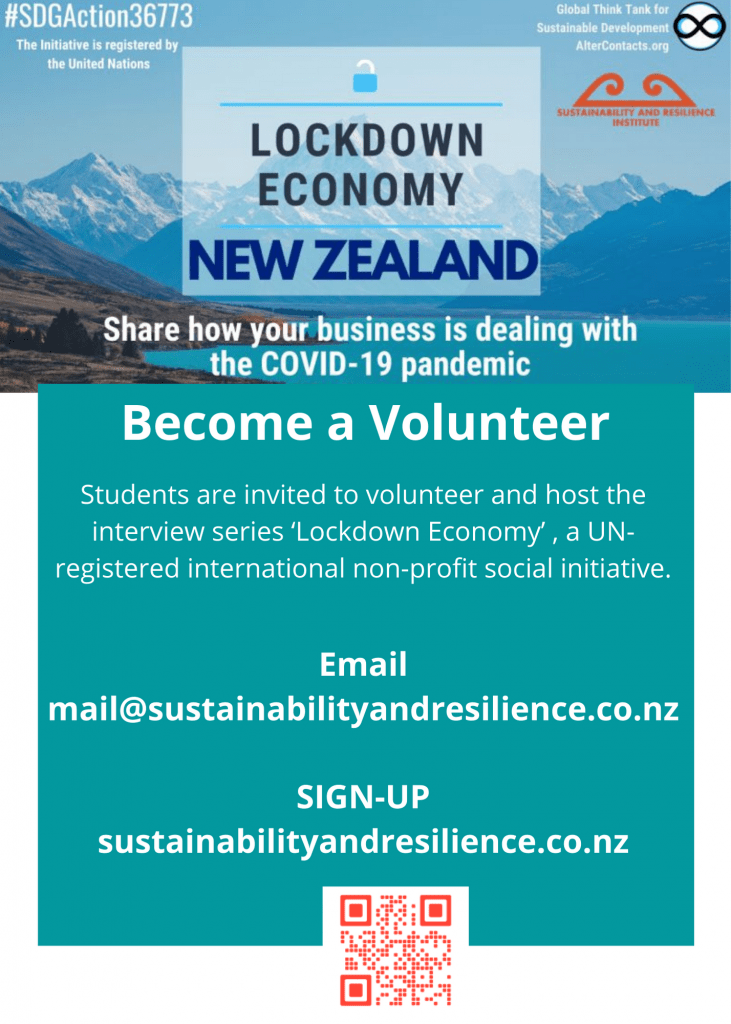 Lockdown Economy Volunteer Flyer_Sustainability and Resilience Institute New Zealand